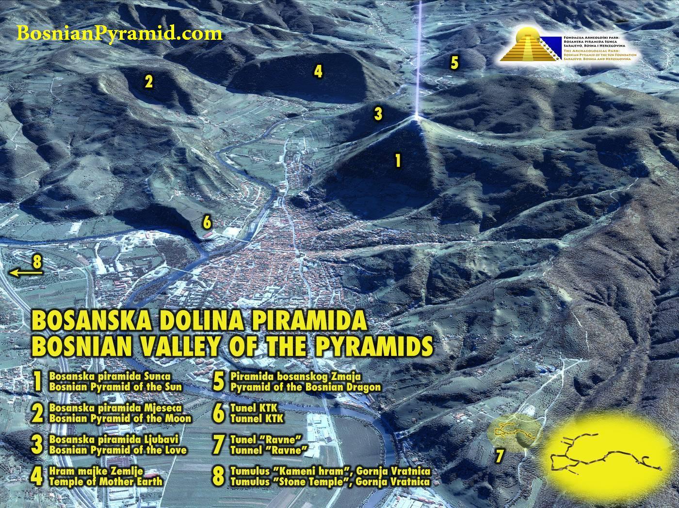Sateliittikuva Bosnian laaksosta